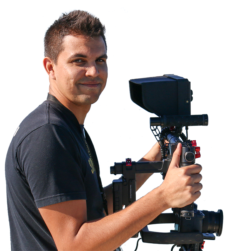 Matt Fulcher holds newest photography gear - Sunrise Multimedia Productions - Vero Beach, FL